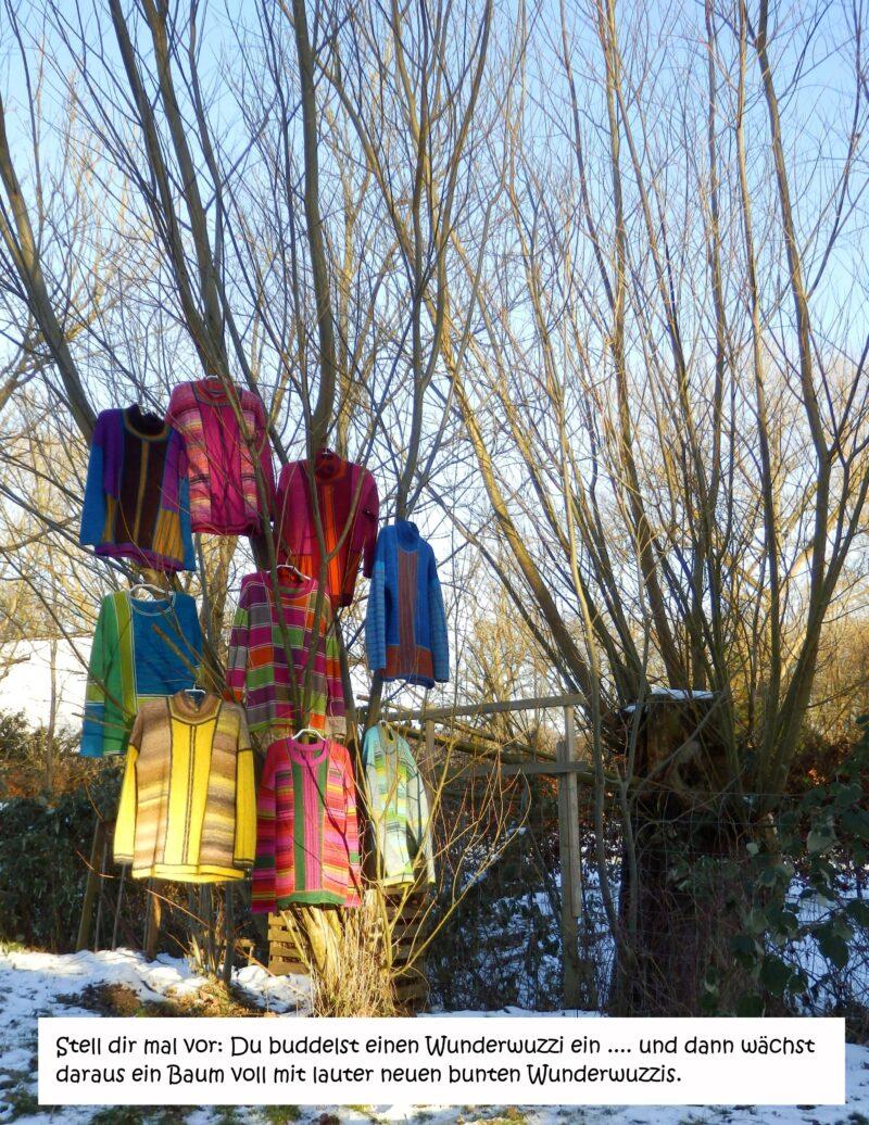 Pullover hängen in Baum
